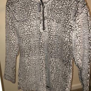 Grey fuzzy Sherpa jacket by boxer craft